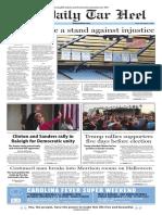 The Daily Tar Heel for Nov. 4, 2016