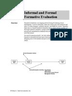 informal formal formative evaluation