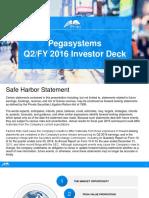 Pegasystems q2 2016 Investor Presentation v4