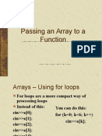 Passing Arrays to Function