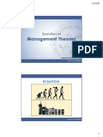 Evolution of Management Theories - an Introduction