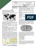 Lista de Revisao Geografia - 1o Ano