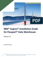 Passport Cognos 2.5 Installation Guide