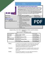 Bizmanualz Sales Marketing Policies and Procedures Sample