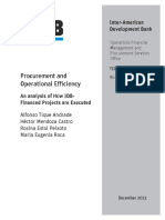 Procurement and Operational Efficiency