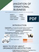 Organization of International Business