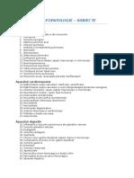 Morfopatologie - Lista Subiecte (an III Sem II)