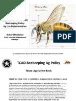 TCAD Beekeeping Ag Policy