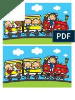 Tren Puzzle A4 c Lucios Color x 4