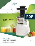 Nutrex Press Juicer Renaware