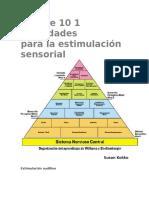 Integración Sensorial Más de 10 1 Actividades