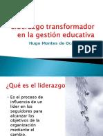 Liderazgo Transfornacional.gestion Educativa.octubre.2014