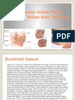 Retensio Urine Post Partum