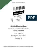 100 Chord Sheeets for Church r2