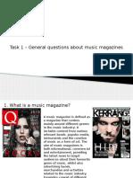 Music Magazine Coursework