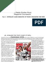 Music Magazine Coursework Task 2