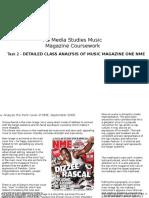 Music Magazine Coursework Task 2 NME analysis
