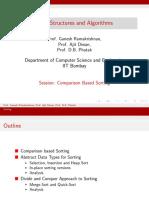CS213 3x Session1 Comparison Based Sorting