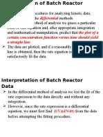 Interpretation of Batch Reactor Data
