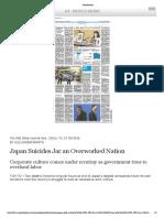 Japan Suicides