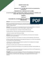 Reglamento Complementario Ley de Mov. y Reclut. de Colombioa