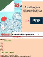 Avaliação diagnóstica - soluções