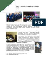 FORMANDOS DA FATEC JUNDIAÍ PARTICIPAM  DA CERIMÔNIA DE COLAÇÃO DE GRAU