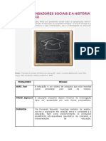 FARIA FILHO, Luciano Mendes de (Org.) Pensadores Sociais e História Da Educação 1. Belo