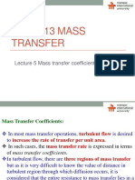 MT Lecture 5 - Mass Transfer Coefficient