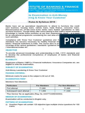 AML KYC NOTICE pdf | Money Laundering | Test (Assessment)