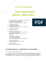 Los libros Sapienciales. Wyssenbach, Jean Pierre