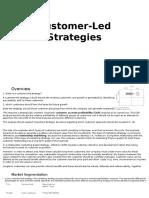 Customer Led Strategies