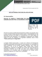 Nota de Prensa Nº 807 - 02oct16