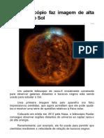 Supertelescópio Faz Imagem de Alta Precisão Do Sol