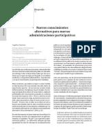 Nuevos conocimientos alternativos para nuevas administraciones participativas