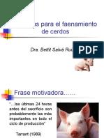 3 Clase Faenamiento de Cerdos
