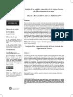 Análisis de la realidad competitiva de la cadena forestal en el departamento de Arauca