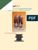 Tobuline Bookstore Kini Menyediakan Novel Tentang Kamu karya Tere Liye