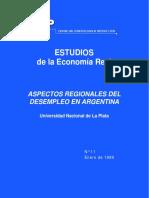 CEP - Aspectos Regionales Del Desempleo en Argentina