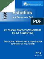 CEP - El Nuevo Empleo Industrial en La Argentina