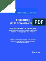 CEP - Inversiones en Argentina y Destino de Los Bienes de Capital Importados