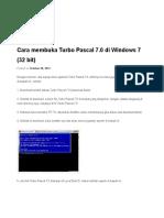 Cara Membuka Turbo Pascal 7
