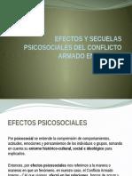 Efectos y Secuelas Psicosociales Del Conflicto Armado