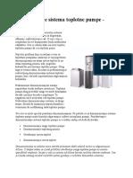Projektovanje Sistema Toplotne Pumpe