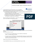 OneDrive for Business File Size Number Type and Character Limits and Restrictions