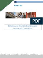 Caderno de Informacoes e Orientacoes 2016