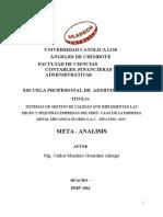 Sistemas de Gestión de Calidad Que Implementan Las Micro y Pequeñas Empresas Del Perú Caso de La Empresa Metal Mecánica Mariátegui