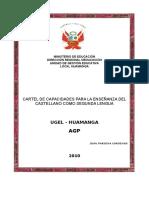 Cartel de Capacidades Del Castellano Como Segunda Lengua-f