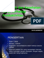 Ergonomi Dan Kesehatan Kerja Terhadap Produktivitas