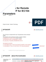 Instructions for Remote Update of UP for IEC104 Parameters